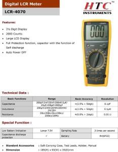 HTC LCR-4070 Digital Multimeter2000 Counts