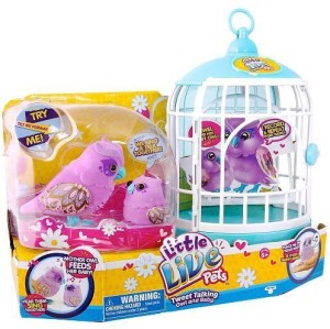 Little Live Pets Owl and Baby Bird with CageMulticolor