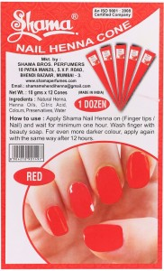 Shama Nail Polish Set Made Of Henna R Red 120 G Pack Of 12 Best