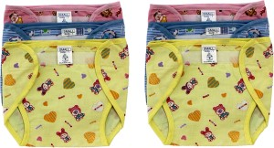 Super Baby New Just Born Outside Printed Cotton Inside Plastic Washable Reusable Diaper/Langot with Velcro(0-3Months)