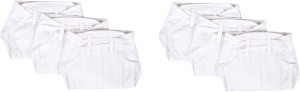 Baby Joy New Just Born Hosiery Plain Cotton Diaper/Langot Cushioned Padded Nappies (0-3 Months)
