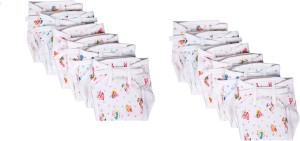 Baby Joy Cushioned Padded Hosiery Printed Double Cotton Thick Cloth Diaper/Langot Multicolor,(3-6 Months)