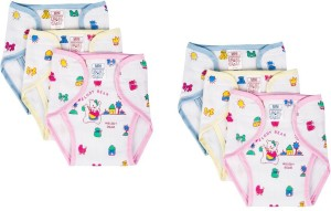 Baby Joy New Just Born Inside Outside Printed Diaper/Langot Cushioned Padded Nappies Mini,(0-3 Months)