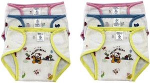 kidoyzz Pack of 6, Multicolor (9-12 Months) New Just Born Photo Print 100% Inside Outside Cotton Double Cloth Washable