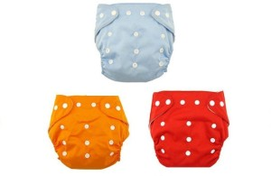 N&M Reusable Nappy Organic Cotton Anti Bacterial Washable Free Size Adjustable WaterProof Covered 0-2 Years