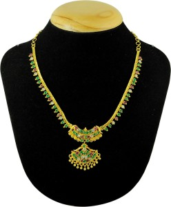 8534044a9ed99 Kalyani Covering Yellow Gold Plated Brass, Copper Necklace
