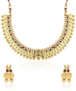 1ee684419670f Jewels Galaxy Pearl Copper Plated Alloy Necklace Set