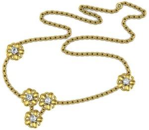 Avsar NECKLACE7A Yellow Gold Precious Necklace