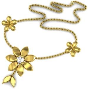 Avsar NECKLACE1A Yellow Gold Precious Necklace