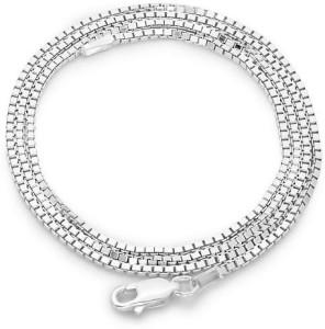 f36293c6a8a35 Swank Silver Box Design 925 Pure Silver Chain for Men and Boys Sterling  Silver Chain