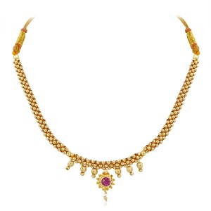 VK Jewels Traditional 18K Yellow Gold Plated Alloy Necklace