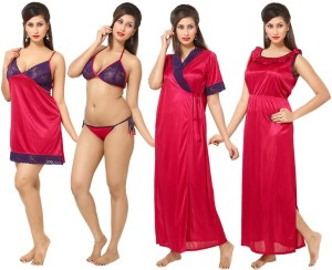 4ff3598210 Rowena Women s Nighty Pink Best Price in India