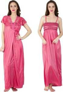 Bombshell Women s Nighty with Robe Pink Best Price in India ... 0e74f099b
