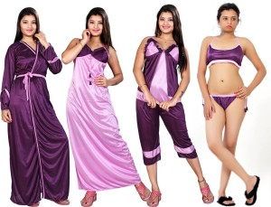911e648132e Mahaarani Women s Nighty Purple Best Price in India