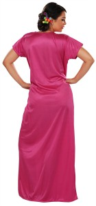 dd070d9881 Glambing Women s Nighty with Robe Pink Best Price in India ...