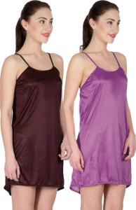 You Forever Women s Nighty Brown Purple Best Price in India  8de46c9b5