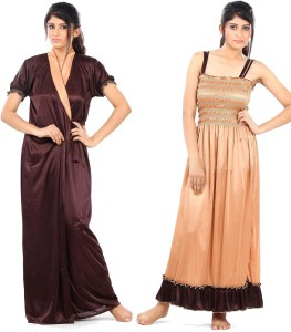 d5c864ccfe Fashigo Women s Nighty with Robe Brown Best Price in India