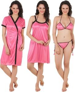 c364f0d3409 Fasense Women s Night Dress Pink Best Price in India