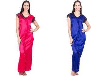 932dacb79ca Adonia Women s Nighty Pink Blue Best Price in India