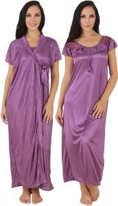 040871afa4 Fasense Women s Nighty with Robe Purple Best Price in India ...