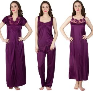Bombshell Women s Nighty with Robe Purple Best Price in India ... 280752de5