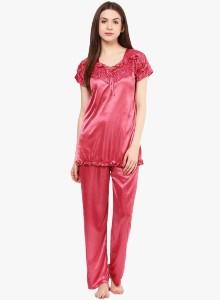 62378383892 Ahaana Fashion Women s Nighty with Robe Orange Best Price in India ...