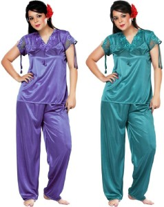 de1a8f2ad07 Boosah Women s Solid Multicolor Top Pyjama Set Best Price in India ...