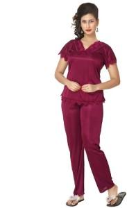e43334d482 Boosah Women s Solid Maroon Top Pyjama Set Best Price in India ...