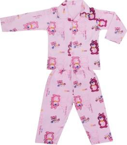 ff49758c8b71 Natkhat Kids Nightwear Boys Animal Print Cotton Pink Pack of 2 Best ...