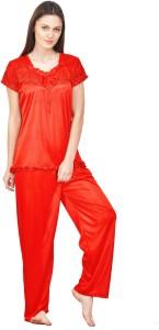 724eb5469b Rowena Women s Solid Red Top   Pyjama Set Price List   Best Price