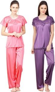 5b48e037bc Boosah Women s Solid Multicolor Top Pyjama Set Best Price in India ...