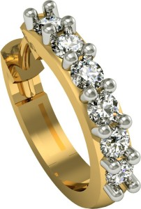 Suvarnadeep Sonakshi Diamond 18K Yellow Gold Plated Gold Nose Ring