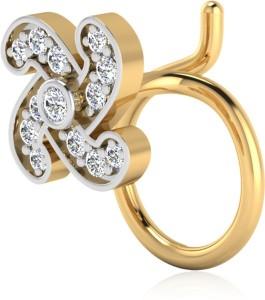 Nagina Diamond Swarovski Crystal 24k Yellow Gold Plated Sterling