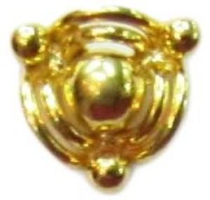 Vinayak Designer Gold Nose Stud