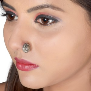 Silvery Sterling Silver Plated Silver Nose Stud