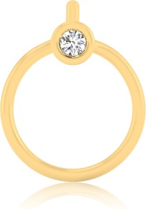 IskiUski Amisi Nose Pin Swarovski Crystal 22K Yellow Gold Plated Sterling Silver Nose Stud