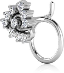 Nagina Diamond Swarovski Crystal Platinum Plated Sterling Silver Nose Ring Best Price In India Nagina Diamond Swarovski Crystal Platinum Plated Sterling Silver Nose Ring Compare Price List From Nagina Diamond Nose