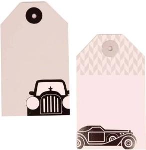 The Papier Project Vintage Cars Office SetGrey, White