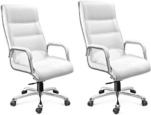 Awe Inspiring Woodstock India Leatherette Office Chairwhite White Set Of 2 Gmtry Best Dining Table And Chair Ideas Images Gmtryco