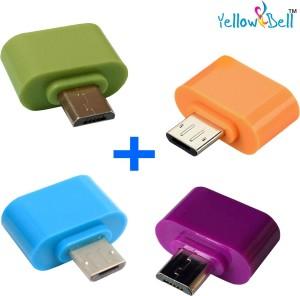 Yellow Bell Micro USB OTG Adapter