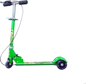 8c6d95347ae Kids Bazaar Foldable 3 Wheeler Cycle Height Adjustable with Hand break and  Bell Green ( Green )