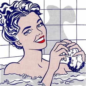 Ocher Art 30x30 INCHES, Roy Lichtenstein  Woman in a Bath Canvas Painting 30 inch x 30 inch  available at Flipkart for Rs.8200