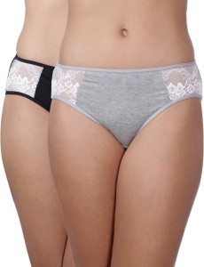 5e3cef7a9 Heart 2 Heart Women s Hipster Grey Black Panty Pack of 2 Best Price ...