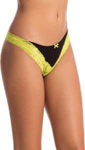 6c0ba6b6094e2e PrettySecrets Women s Thong Black Panty Pack of 1 Best Price in ...