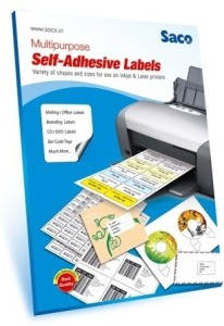 Saco 2 A4 Size CD Self-adhesive Paper Label