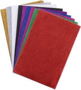 Radhey Glitter Unruled A4 Craft paper