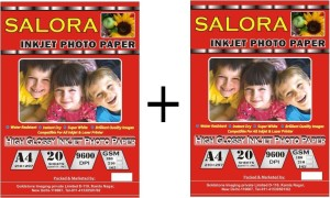 Gocolor High Glossy Inkjet Photo Paper 180 Gsm A4/ 20 Sheets X 2 Pack Combo Unruled A4 Photo Paper