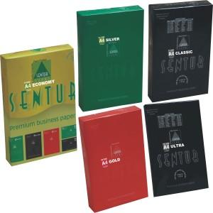 Sentur 70 / 70+ / 75 / 80 / 100 GSM (100 Sheet Each Pkt.) Pack of 5 Set Unruled A4 ( 210 mm x 297 mm ) Printer Paper