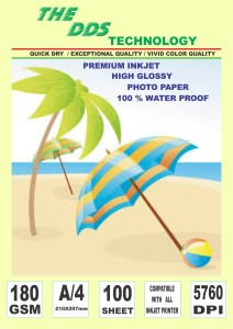DDS Photo Paper Unruled A4 Inkjet Paper