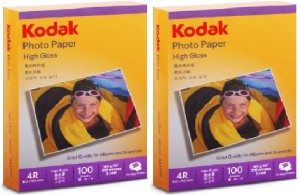 Kodak High Gloss Unruled 4R Inkjet Paper